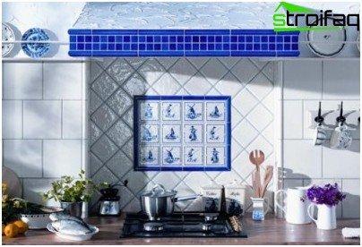 Opción de diseño de delantal de cocina