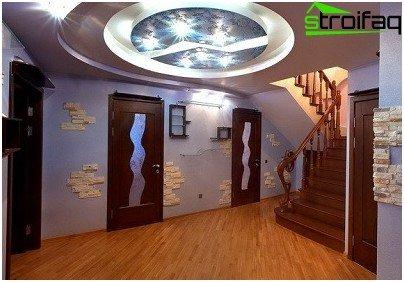 Diseño de techo de pladur para una gran sala