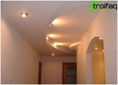 Opción de techo de pasillo estrecho