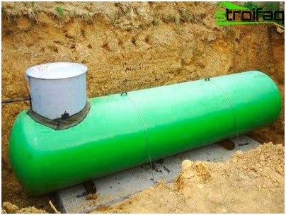 Underground installation of a gas tank for organizing autonomous gas supply
