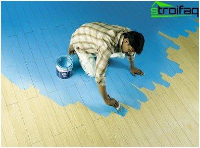 Wood floor painting