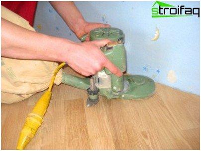 Eliminering af huller på gulvet