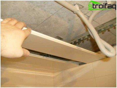 Installation af loftsskinner