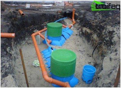 Het apparaat van septic tanks voor afvalwaterbehandeling