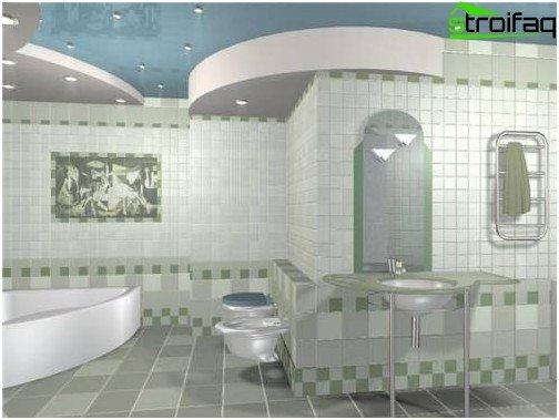 Setzen Sie im Badezimmer einen deutlichen Akzent - wählen Sie beispielsweise eine Fliese mit einem interessanten Muster!