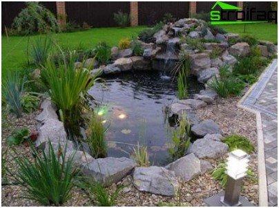 езерце на място