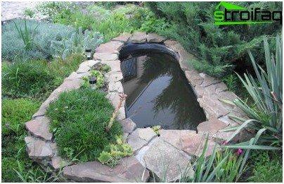 как се прави езерце