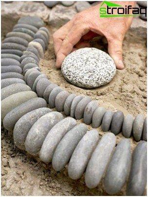 piedra en el jardin