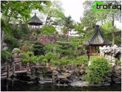 pedras no jardim oriental