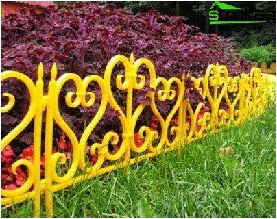Blumengarten Zaun