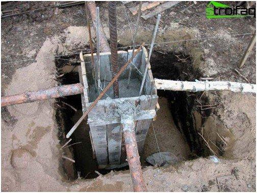 Uređaj za temelje stupaca: oplata