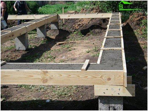 Het monteren van de grille is een belangrijke stap in de constructie van een kolomfundering