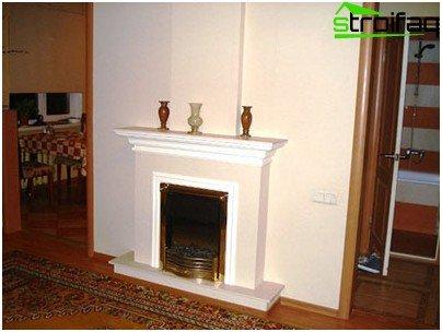 Gypsum fireplace trim