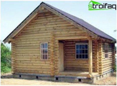 Jednokatna sauna bez verande