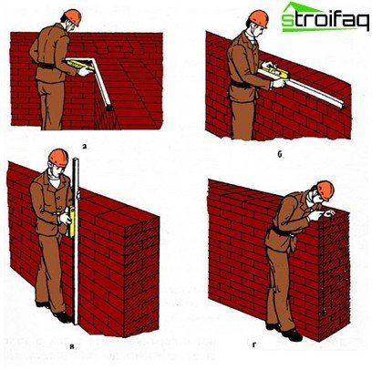 Masonry brick walls