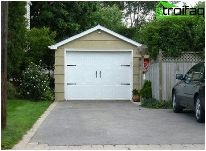 Garage Option im Land