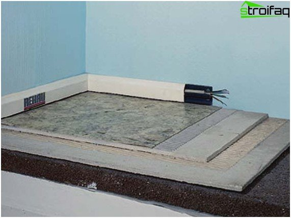 Technology for laying dry floor screed
