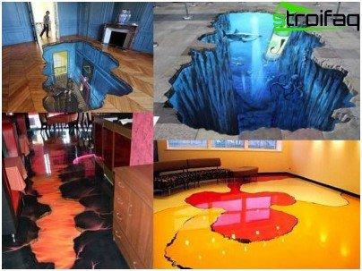 Selvnivellerende gulve med 3D-effekt