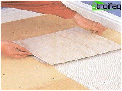 Laying Vinyl Tiles