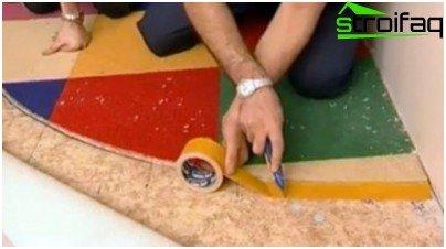 Laying a multi-piece carpet