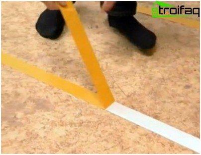Mounting carpet on tape