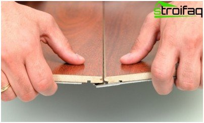 Joining a glueless laminate
