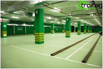 Floor for industrial and industrial buildings
