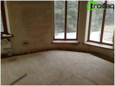 Wood concrete floors