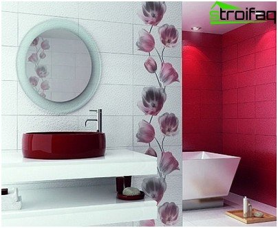 Photo-example of the design of the bathroom