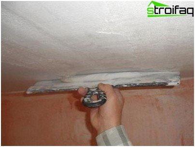 Correcte stopverftoepassing op het plafond