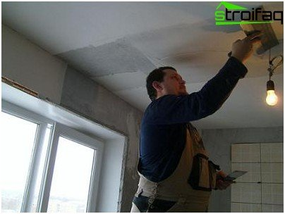 Do-it-yourself ceiling putty