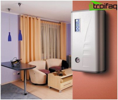 Wall mounted electric boiler