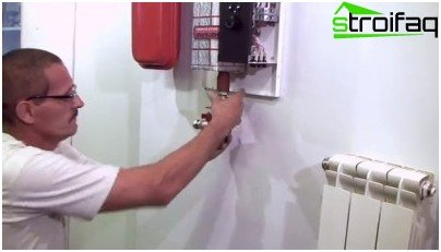 Installation of an electric wall boiler