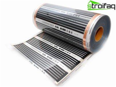 Elektrisk gulv af varm film