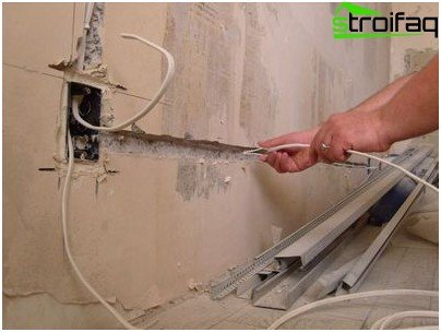 Laying hidden electrical wiring in the wall