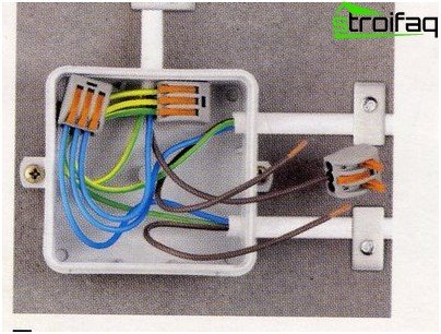 Connection of wires in the junction box
