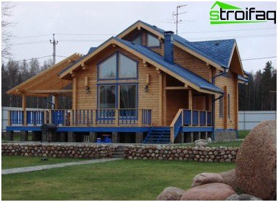 Installation of an electric cable to a wooden house