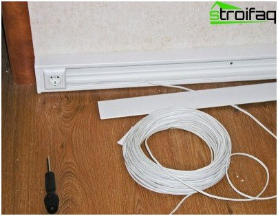 Choosing an electrical wire for a wooden house