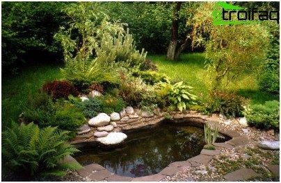 езерце в страната