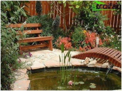 езерце в лятна вила