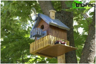 къщичка за птици върху парцела