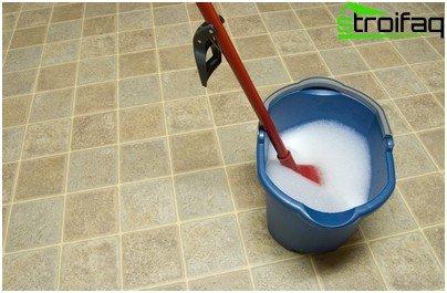 Sådan vaskes linoleum