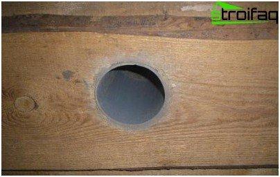 توريد الهواء في مرآب خشبي