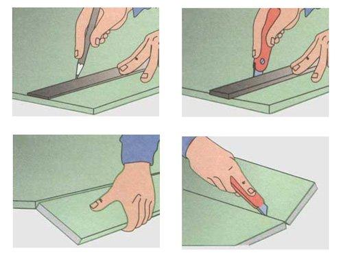 Gipsplaat snijden