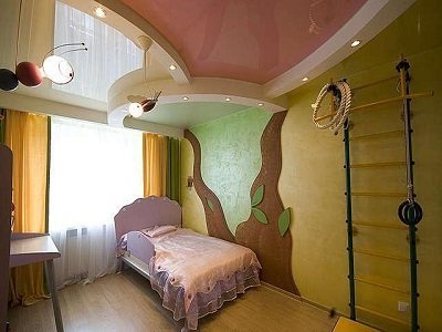 Stretch ceiling for emotional children: calm colors