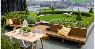 Roof garden - an island of nature in the heavens