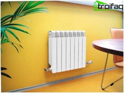 Aluminium radiatoren met lage traagheid