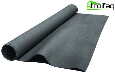Membrane soundproofing material