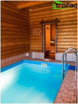 Bath with a pool