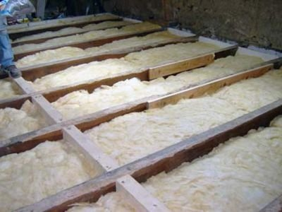 Insulation of the ceiling of the bath with basalt fiber
